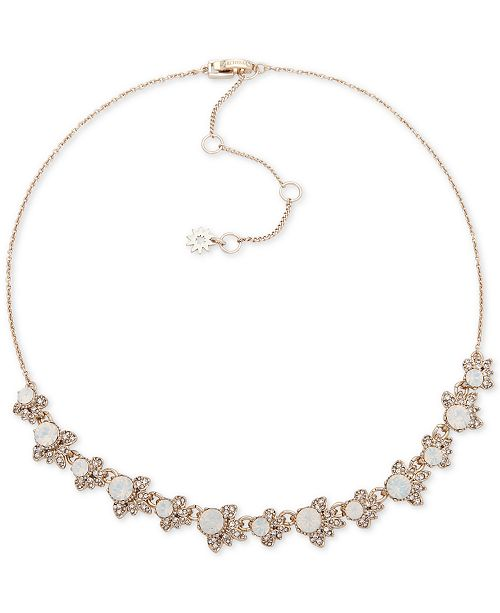 """Marchesa Gold-Tone Crystal & Stone Collar Necklace, 16"""" + 3"""" extender"""
