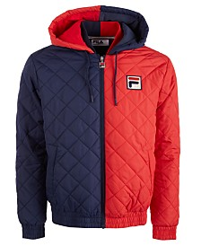 Fila Men's Sawyer Colorblocked Quilted Jacket