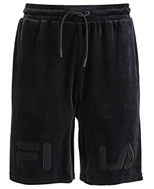 Men's Arc Classic-Fit Stretch Velour Logo Shorts
