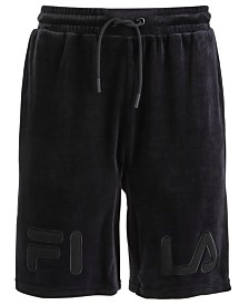 Fila Men's Arc Classic-Fit Stretch Velour Logo Shorts
