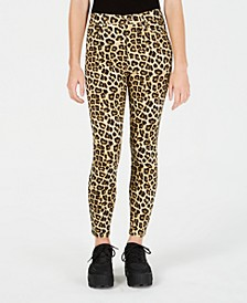Juniors' Cheetah-Print Skinny Ankle Jeans