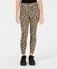 Juniors' Cheetah-Print Skinny Ankle Jeans