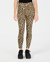 e6b6200f9d9f6a Celebrity Pink Juniors' Cheetah-Print Skinny Ankle Jeans