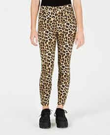 Celebrity Pink Juniors' Cheetah-Print Skinny Ankle Jeans