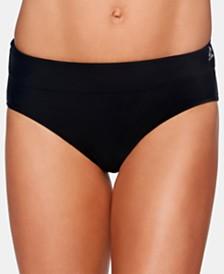 Reebok Infinity Zip-Pocket Bikini Bottoms