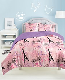 Dream Factory Je'Taime Paris 2-Pc. Twin Comforter Set