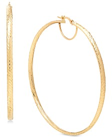 Italian Gold Hoop Earrings in 14k Gold