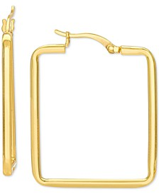 Square Hoop Earrings in 18k Gold-Plated Sterling Silver, Created for Macy's