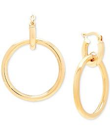 Italian Gold Drop Earrings in 14k Gold