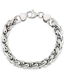Interlocking Oval Link Bracelet in Stainless Steel