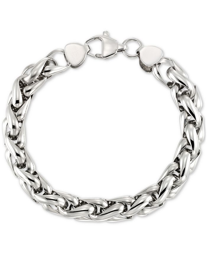 LEGACY for MEN by Simone I. Smith - Interlocking Oval Link Bracelet in Stainless Steel