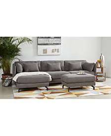 Jaxxon Fabric Sectional Sofa Collection