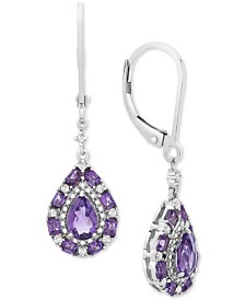 Amethyst (3/4 ct. t.w.) & White Sapphire (5/8 ct. t.w.) Drop Earrings in Sterling Silver