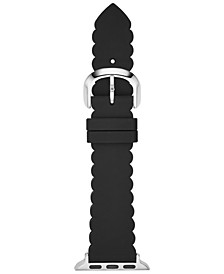 Women's Black Scalloped Silicone Apple Watch Strap 42mm/44mm