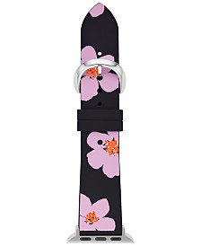 kate spade new york Women's Floral Silicone Apple Watch Strap 38mm/40mm