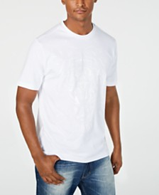 Sean John Men's White Party Camo Tiger Graphic T-Shirt