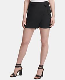 DKNY Tie-Front Wrap Shorts