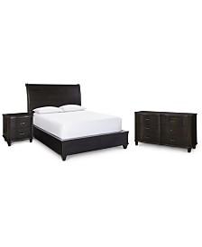 Philip Bedroom Furniture, 3-Pc. (Queen Bed, Nightstand & Dresser), Created for Macy's