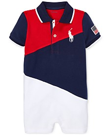 Polo Ralph Lauren Baby Boys Mesh Cotton Polo Shortall