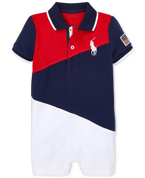 Polo Ralph Lauren Baby Boys Mesh Cotton Polo Shortall