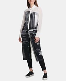 DKNY Cityscape Button-Through Shirtdress