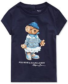 Polo Ralph Lauren Baby Girls Bear Graphic Cotton T-Shirt