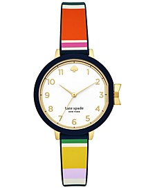 Women's Park Row Multicolor Silicone Strap Watch 34mm