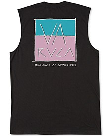 Men's Split Scrawl Graphic Tank Top