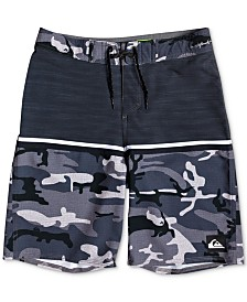 "Quiksilver Boys Highline Division Stretch Colorblocked 18"" Board Shorts"