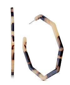 I.N.C. Tortoise-Look Geometric Hoop Earrings, Created for Macy's