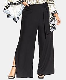 City Chic Trendy Plus Size Split-Leg Pants