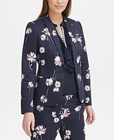 Floral-Print Peak-Lapel Blazer, Created for Macy's