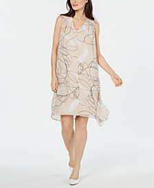 Petite V-Neck Dress, Created For Macy's