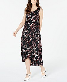 Geo-Print Tulip-Hem Dress, Created for Macy's