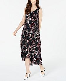 Geo-Print Tulip-Hem Dress, Created for Macy's