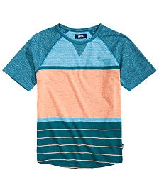 Univibe Big Boys Jayden Colorblocked Stripe Raglan-Sleeve T-Shirt