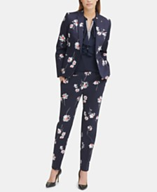 Tommy Hilfiger Floral-Print Blazer & Pants, Created for Macy's