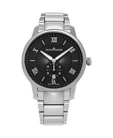 Alexander Watch A102B-02, Stainless Steel Case on Stainless Steel Bracelet
