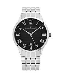 Alexander Watch A103B-02, Stainless Steel Case on Stainless Steel Bracelet