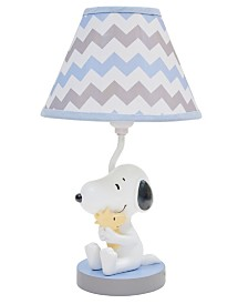 Lambs & Ivy My Little Snoopy™ with Woodstock Nursery Lamp with Shade and Bulb
