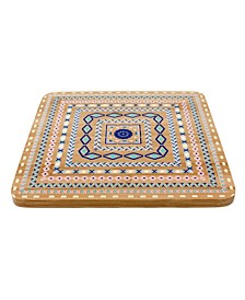 Bamboo Multi-Colored Trivets, Set Of 4