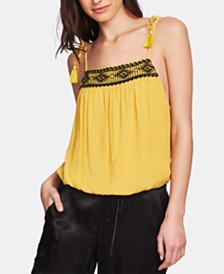 1.STATE Sleeveless Embroidered Top