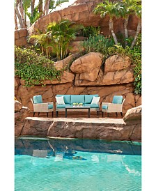 Amari Parchment Outdoor Sofa With Sunbrella® Cushions
