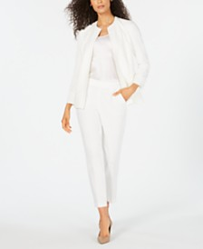 Kasper Diamond Lace Jacket & Draped Pants
