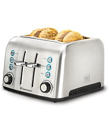 Toastmaster 4-Slice Wide Slot Stainless Steel Toaster
