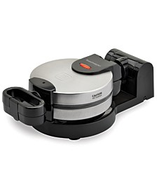 Low Profile Stainless Steel Flip Waffle Maker