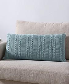 Dublin Cable Knit Rectangular 14x27 Decorative Pillow
