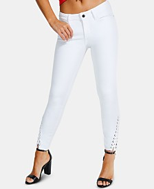 GUESS Sexy Curve Lace-Up Skinny Jeans