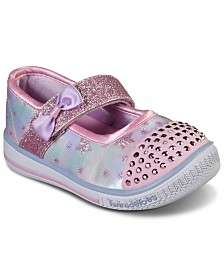 Skechers Toddler Girls' Twinkle Toes: Twinkle Play - Starry Spark Light Up Casual Shoes from Finish Line