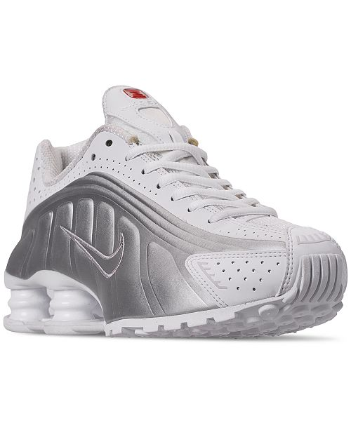new styles 6fc29 d797a ... Nike Women s Shox R4 Casual Sneakers from Finish Line ...